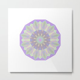 Round Iridescent Geometric Background Metal Print