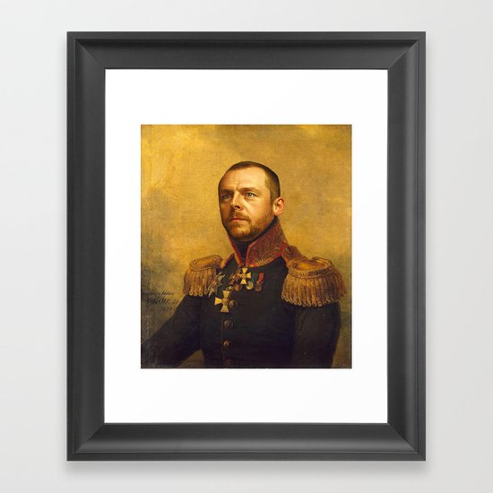 Simon Pegg - replaceface Framed Art Print