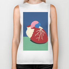 Human Heart Biker Tank