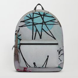 Atomic Starburst Retro Painting Backpack