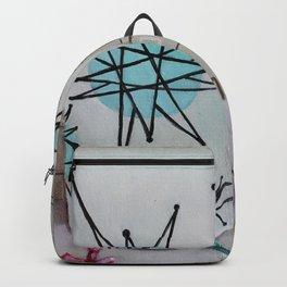 Atomic Starburst Retro Painting Backpack