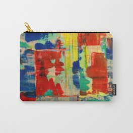 Ice and Heat...polar Opposites!: Abstract Acrylic Painting with neon and bright colors Carry-All Pouch