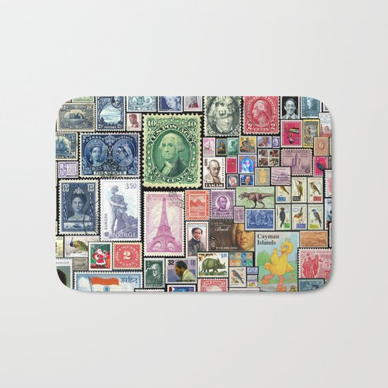 Stamps     Collage Bath Mat