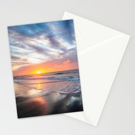Daybreak at Hilton Head - Sunrise Along Beach at Hilton Head Island in South Carolina Stationery Cards