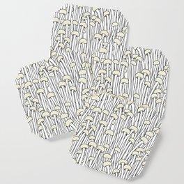 Enokitake Mushrooms (pattern) Coaster