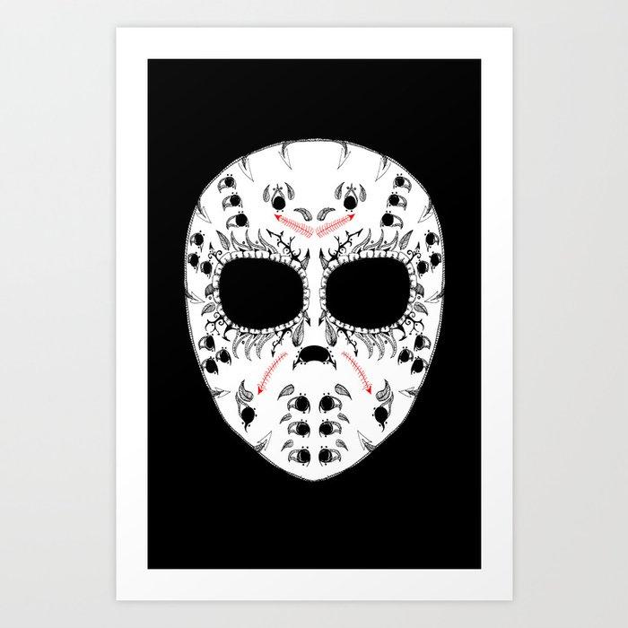 Viernes The 13Th Sugar Skull Art Print
