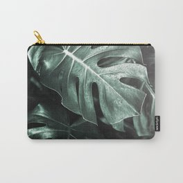 Monstera leaves, Palm Leaf Carry-All Pouch