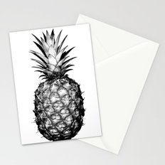 Black & White Pineapple Stationery Cards