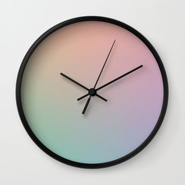 HOLOGRAPHIC - Minimal Plain Soft Mood Color Blend Prints Wall Clock