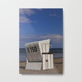 beach chair no E 150 Metal Print
