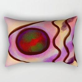Funky Abstract Digital Painting Rectangular Pillow