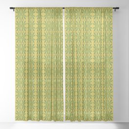 Marijuana Leaf Pattern Sheer Curtain