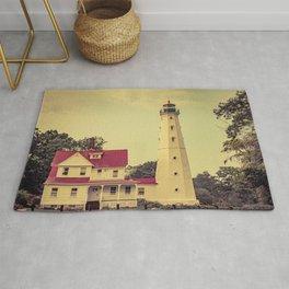North Point Lighthouse Milwaukee Wisconsin Lake Michigan Light Station Rug