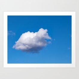 This cloud's a turtle Art Print