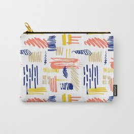 scribble and paint splotches or smudges. Carry-All Pouch