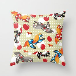 Паттерн с лошадками Throw Pillow