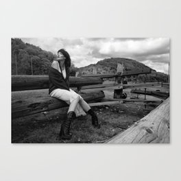 The wayward daughter of technology. Canvas Print