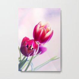 Happy Tulip Greetings Metal Print