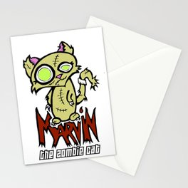 Marvin the Zombie Cat Stationery Cards