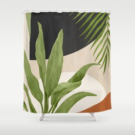 Abstract Art Tropical Leaf 11 Shower Curtain