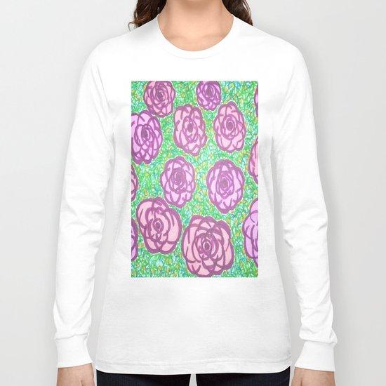 Preppy Rose Garden Long Sleeve T-shirt