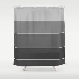 Monochrome + Stripes Shower Curtain