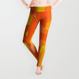 hoe is afraid of orange and yellow Leggings