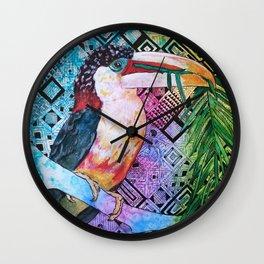 The Origin of the Aracari ( Toucan Bird Whisperer Project ) Wall Clock