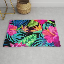 Drive You Mad Hibiscus Pattern Rug