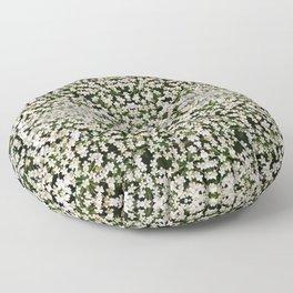 Tiny White Flowers Pattern 1279 Floor Pillow
