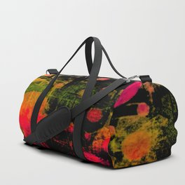 In a Pink and Black Mood Duffle Bag