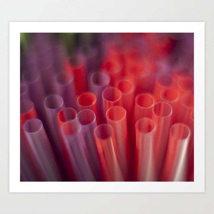 Colorful Straws Art Print
