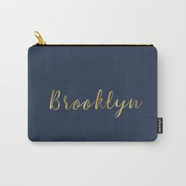 Brooklyn Gold Script Carry-All Pouch