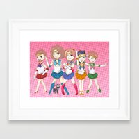 game grumps Framed Art Prints featuring Sailor Grumps by Yun Hee