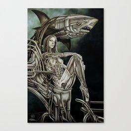 Dolls - Robot Shark Canvas Print
