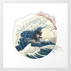 Out of sea Art Print