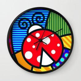Lucky Ladybug Wall Clock
