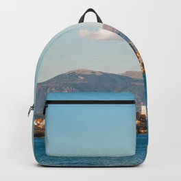 Seacoast of Antibes in a sunny winter day Backpack