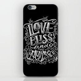 love, Bliss & Magic iPhone Skin