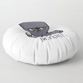 Cute Anti-social Grumpy Kitten, Ew People  Floor Pillow