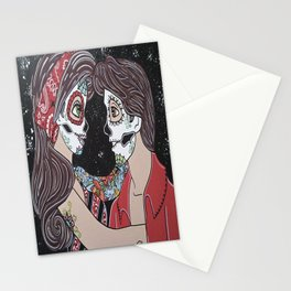 Rockabilly Sugar Skull Stationery Cards