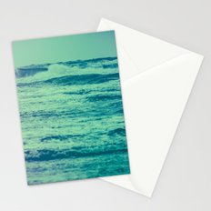 Ocean Waves - Blue Teal Sea in California Stationery Cards