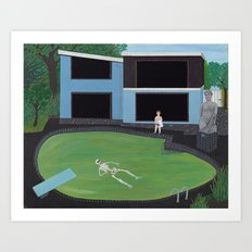 Green Pool Art Print