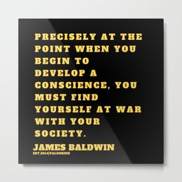 27  |James Baldwin Quotes 200808 Print Poster Black Writers Motivational Quotes For Life Poem Poetry Metal Print