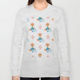 Girl Fox with Pink Diamond Long Sleeve T-shirt