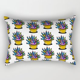 Birthday cupcake pattern Rectangular Pillow