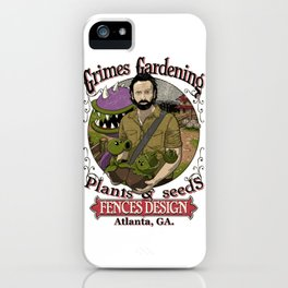 Grimes Gardening. iPhone Case