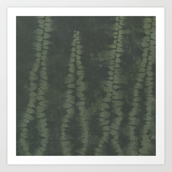 Shibori Ferns Art Print