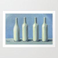 White bottles Art Print