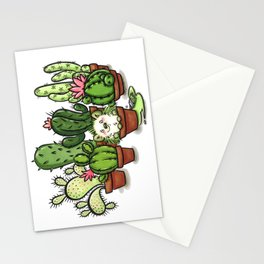 Green - Cactus and Hedgehog Stationery Cards